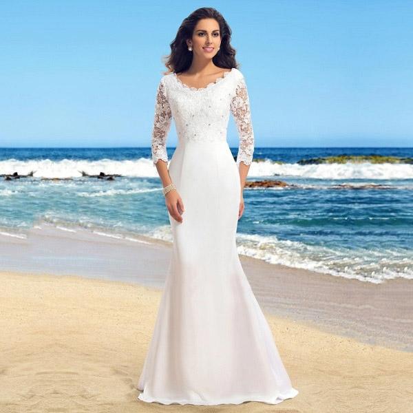 Свадебные-платья-прямые-1