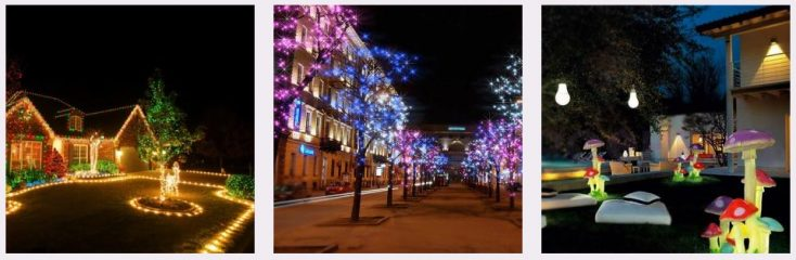 светодиодный дюралайт, светящиеся фигуры из акрила, советы по светодиодному освещению дачного участка