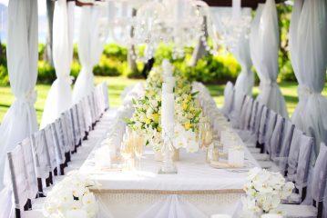 Цветочное оформление на свадебном торжестве